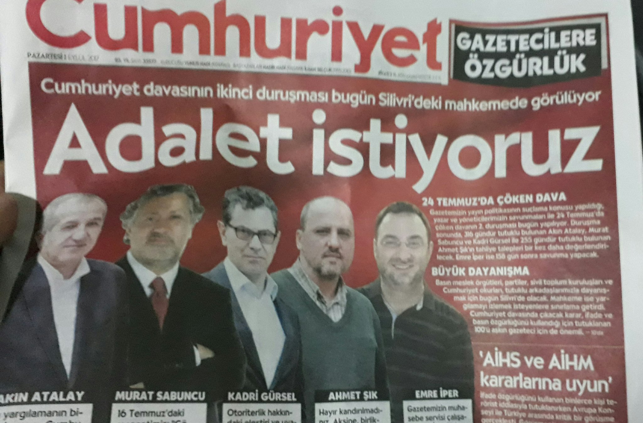 Briefing on the trial of Cumhuriyet newspaper staff